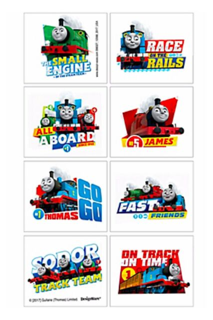 Thomas the Tank Engine Party Tattoos - Birthday Party Supplies Thomas - Favours