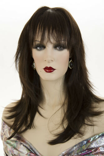 Chestnut Brown Brunette Long Medium Skin Top Straight Wigs
