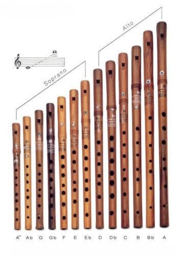 Woodwind Plum  Kaval Mid Size Dilsiz Kaval
