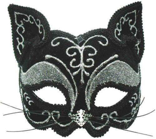 HALLOWEEN FANCY DRESS,CATWOMAN HEADBAND MASQUERADE EYE MASK GLITTER CAT MASK