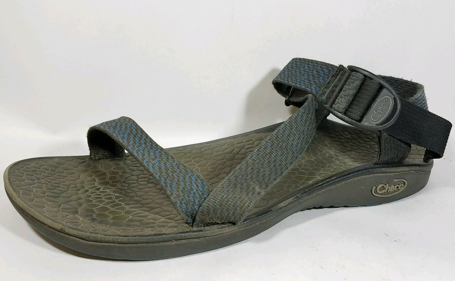 Chaco Mens 11 M Z 1 Classic Athletic Sport Sandals Pencil Art bluee Hiking Trail