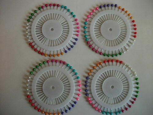 5X40 cabeza de perlas multicolores maniquíes Pins Calidad 200