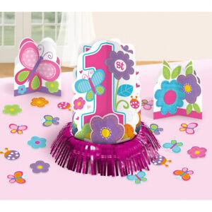 Dekoset 1 Geburtstag Madchen Tischdeko Party Girl Rosa