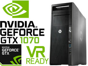 HP Z620 VR Ready Gaming Computer 2 9GHz 16 Cores Xeon