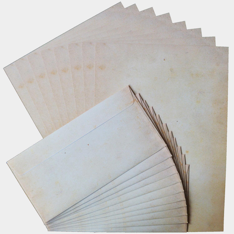 Briefpapier ALTE PAPIERROLLE 90g//m/² DIN A5 Motivpapier 100 Blatt Beidseitig