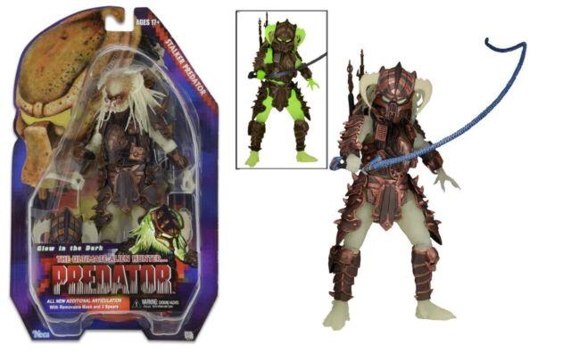 "NECA PREDATOR Series 16 STALKER 7/"" Action Figure Glow Dark Alien Predator Kenner"