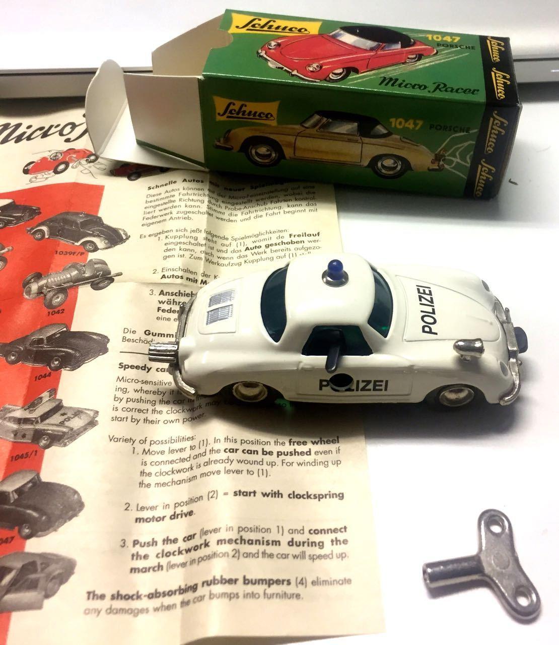 SCHUCO MICRO RACER PORSCHE 356 POLIZAI MINT IN BOX SCALA 1 43