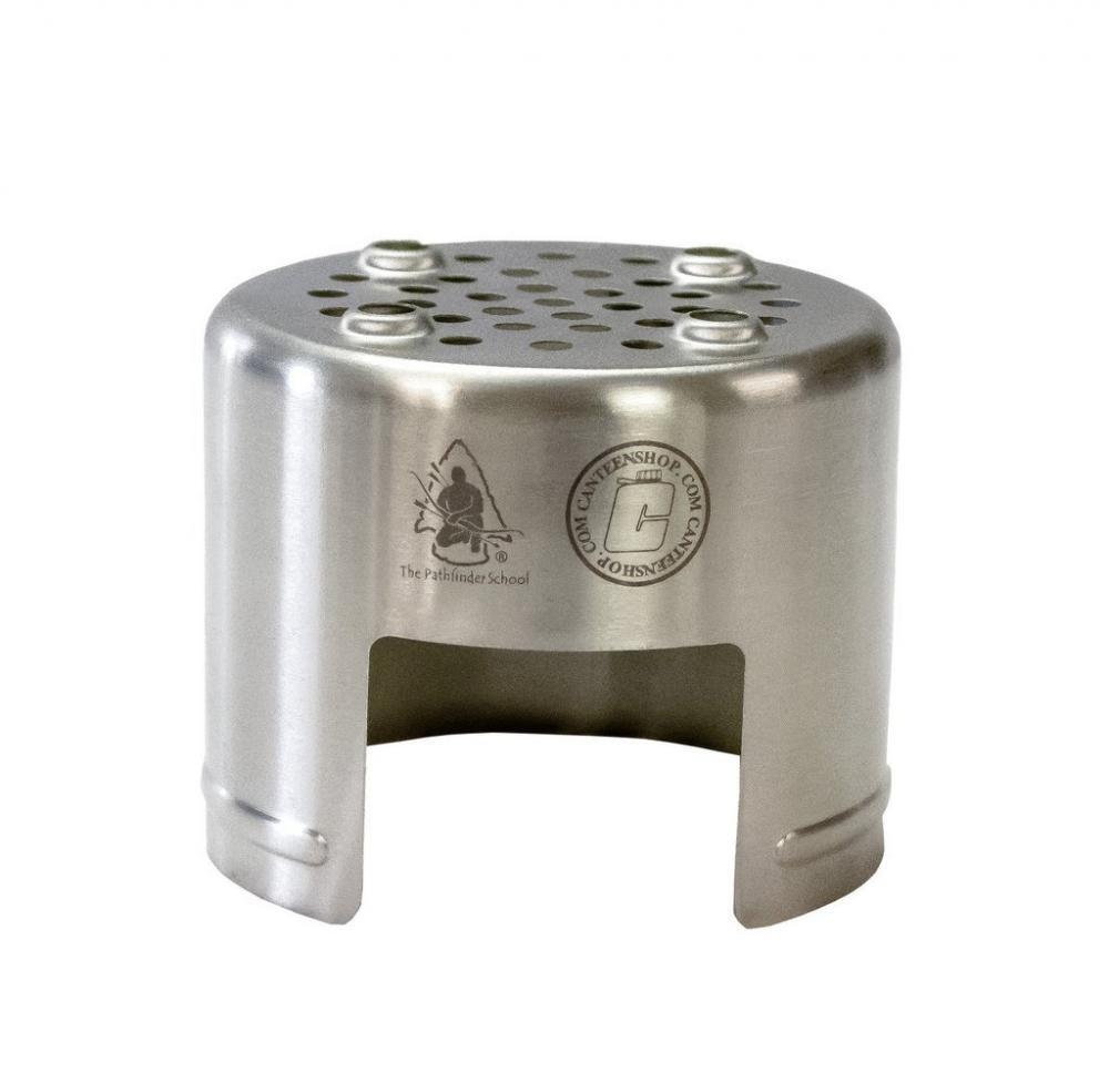 PATHFINDER STAINLESS STEEL BUSHCRAFT BOTTLE STOVE CAMPING