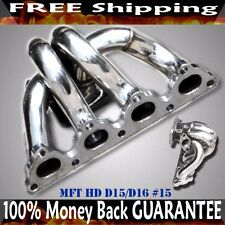 SS Turbo Manifold for 88-00 Honda Civic D15 D16 EE EJ EK T3/T4 Flange
