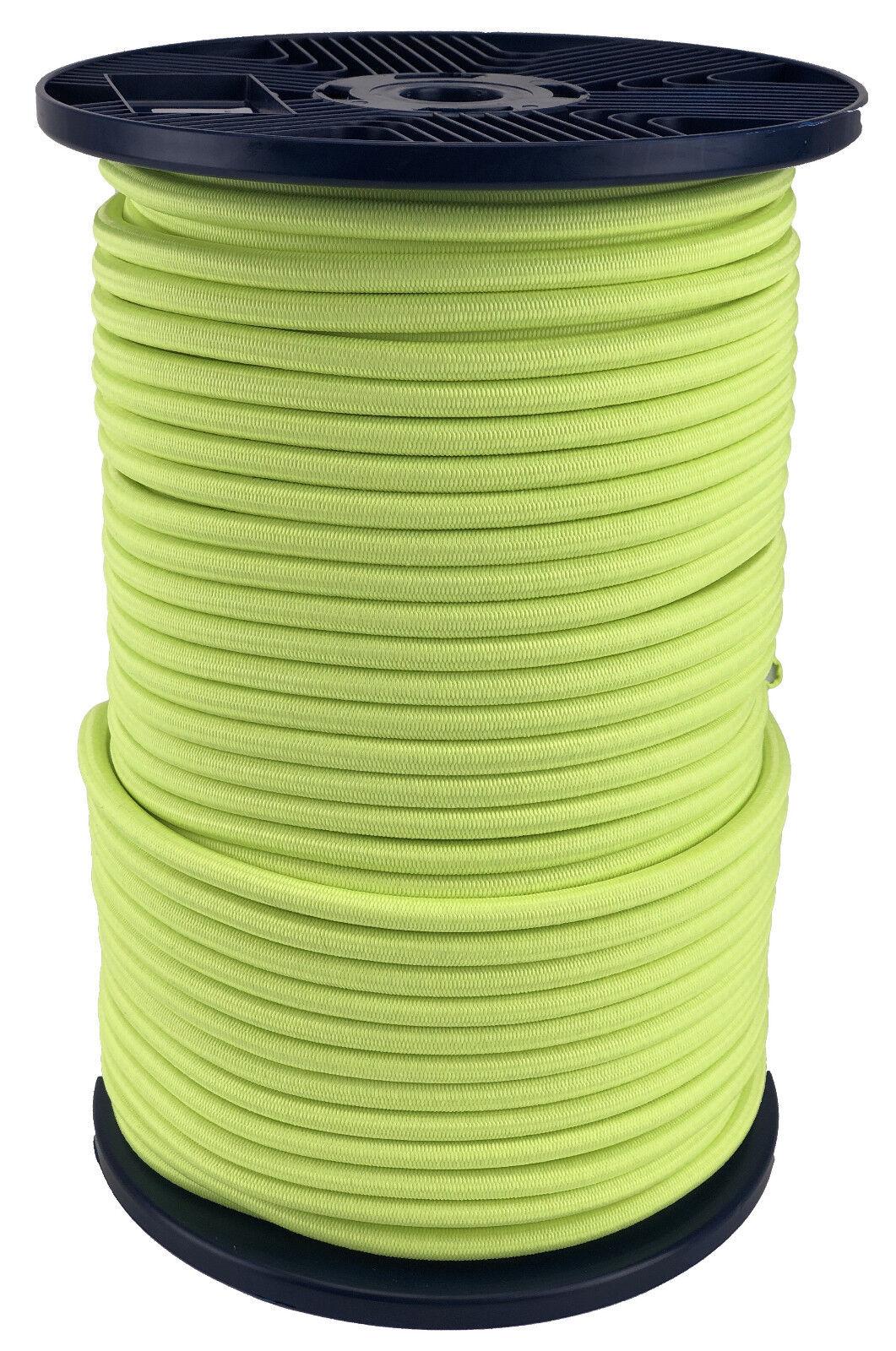 10mm Gituttio Fluorescente Elastico Bungee Cinghia Corda x 40 Metri, Fissaggio UV