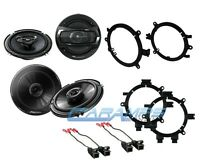 Pioneer 6.5 Truck Suv Stereo Front & Rear Door Speakers W/ Mounts & Wiring on sale