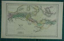 1850 LARGE ANCIENT MAP HAND COLOURED ~ LIBYAE LIBYA AFRICA NUMIDIA NASAMONES