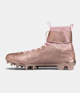 a64418389dc Under Armour C1N MC LE Limited Rose Gold Football Cleats Pink Cam ...