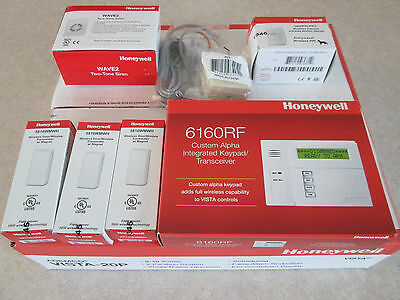 Honeywell Vista-20P Alarm Kit 6160RF Keypad 5816 5800PIR-RES Wireless 1321 20P