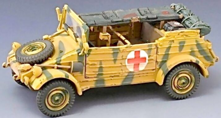 Thomas Gunn WW2 Deutsch SS023A Medizinisch Kübelwagen Normandie Version MIB