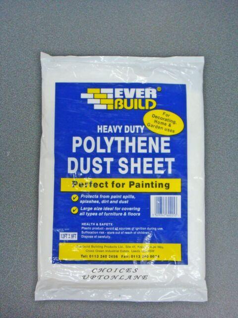 Everbuild Polythene Dust Sheet 12 X 9 EVBPOLYDS129 for sale online