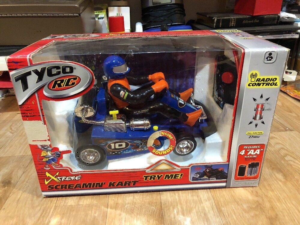 Tyco R C Xtreme Xtreme Xtreme Screamin' Kart Radio Control bluee New 6da4ee