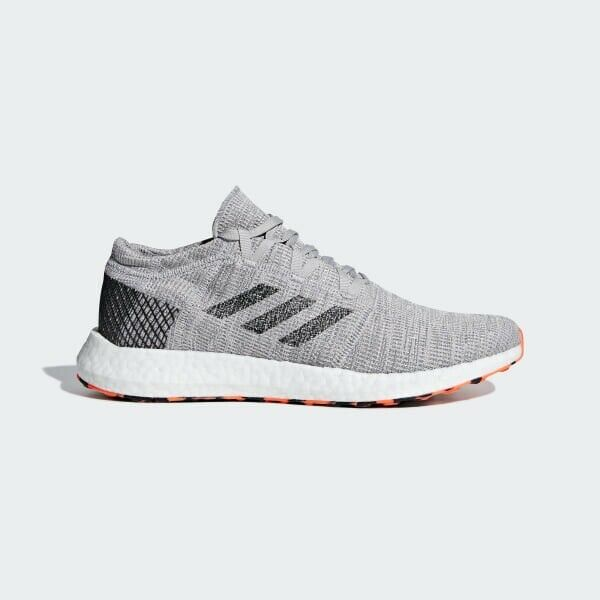 Adidas Pureboost Go AH2324  Running shoes Grey Black-orange Mens Size 10.5 NEW