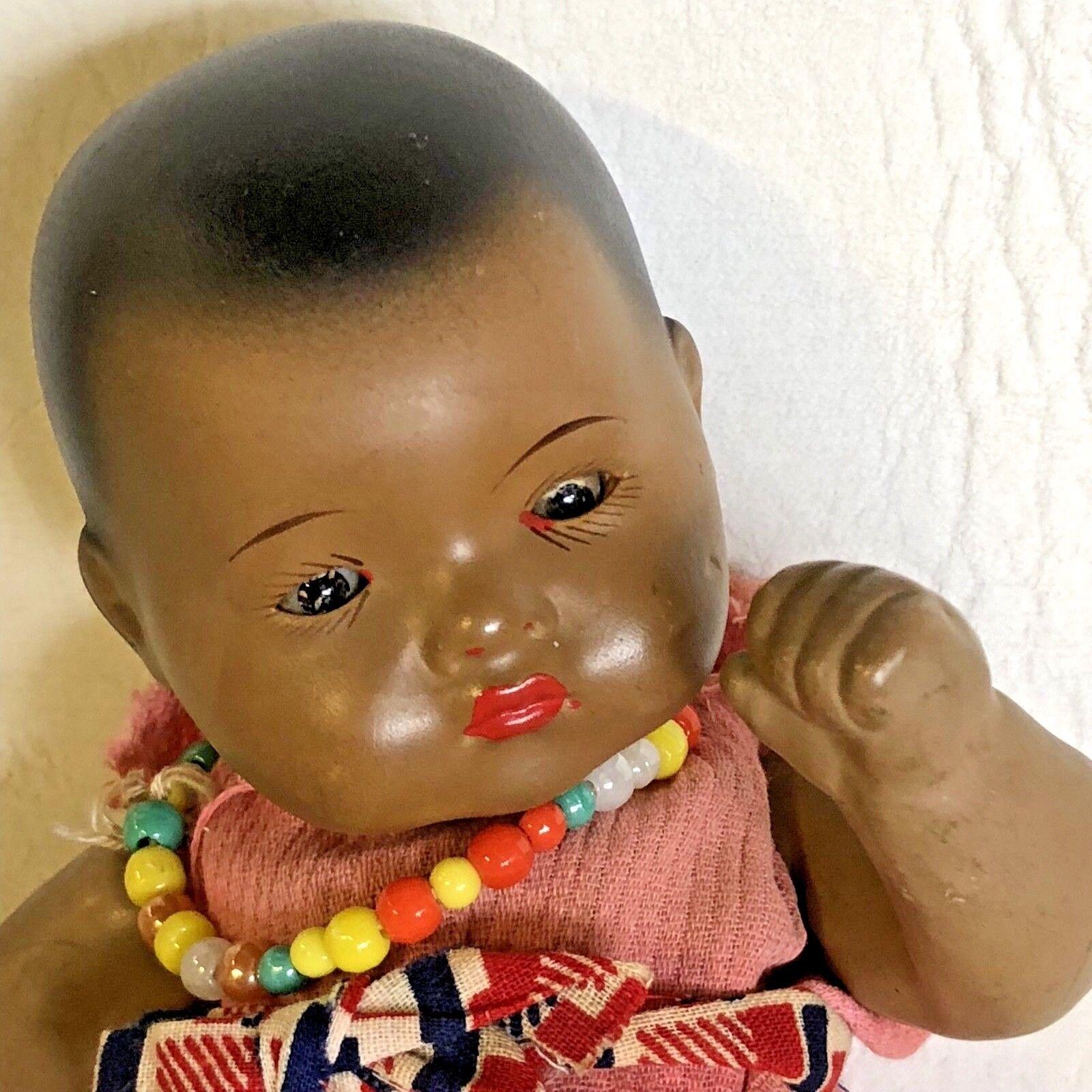 Armand Marseille bisquit bambola negrito mulatto