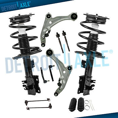 Detroit Axle 12pc Front Struts w//Coil Spring Pair Front Rear Sway Bar Links Inner Outer Tie Rods for 2004 2005 2006 2007 2008 Nissan Maxima Front Lower Control Arms
