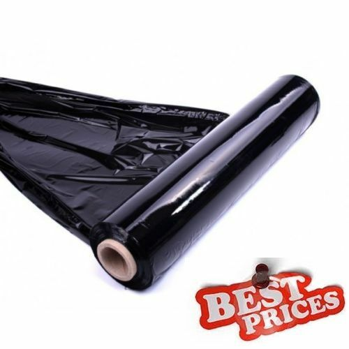 LARGE 1x QUALITY BLACK PALLET STRETCH WRAP 500mm 300m strong NORMAL CORE