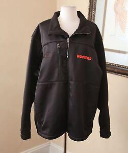 New-Black-UFC-Hooters-Soft-Shell-Men-039-s-Jacket-Antigua-Size-XL-NWT-Custom-Rare