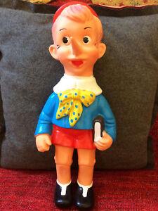 Collection de marionnettes en caoutchouc des années 60 - Lot 4 Pinocchios Rubbertoys