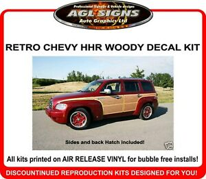Chevrolet HHR Retro Woody Woodgrain Graphics Kit   decal