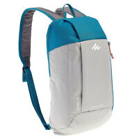 Backpack Day Pack Schoolbag Bag Camping Hiking Bicycle Quechua 10L Grey blue