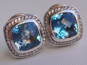 1950-DAVID-YURMAN-SILVER-ALBION-BLUE-TOPAZ-DIAMOND-EARRINGS