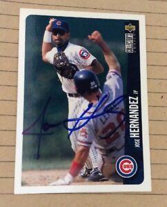 1996 Collector's Choice Baseball Card #498 Jose Hernandez Signed