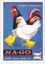 Reproducción antigua publicidad PIENSOS COMPUESTOS MA-GO