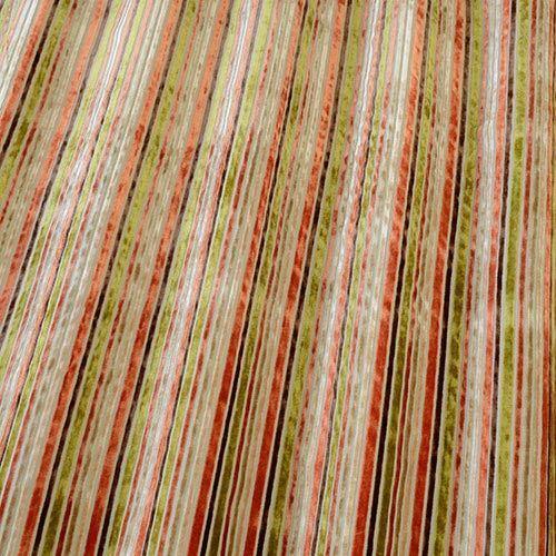 Selling per metre off the roll Versari Orange By iliv Striped Velvet Fabric