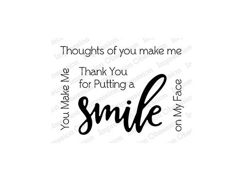 SMILE CLEAR STAMP-Impression Obsession//IO Stamps-Stamping Craft-Sentiment