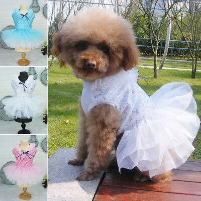 Pet Small Puppy Dog Tutu Dress Lace Skirt Cat Princess Dress Clothes Apparel HOT
