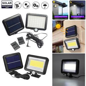 56-100-DEL-Solaire-Capteur-de-mouvement-lumiere-jardin-exterieur-Securite-Lampe-Projecteur