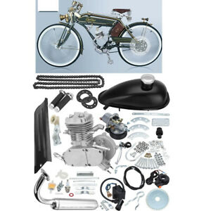 Full Set 80cc Bike Bicycle Motorized 2 Stroke Petrol Gas Bicycle Motor Engine Kit Set