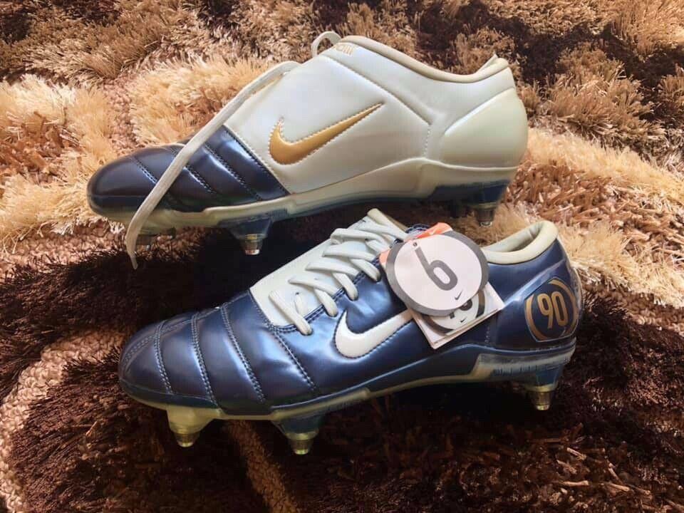 Rare Nike Air Zoom Total 90 Lll SG 308228-411 Azul Marino Hombre Botines De Fútbol Talla 11.5
