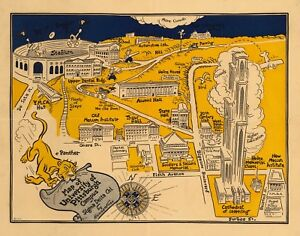 University-of-Pittsburgh-buildings-football-game-1935-pictorial-map-POSTER-11354