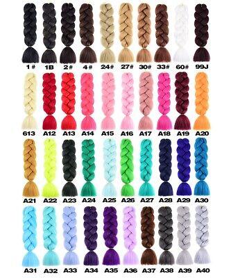 Details about  24″  Box Braids Kanekalon Jumbo Braiding Hair Extensions Mega Synthetic Hair AU