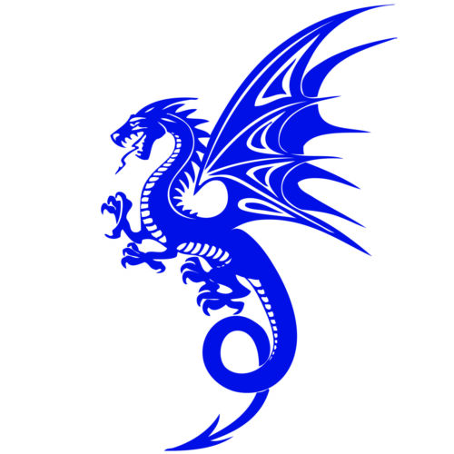 Dragon Wings Mythical Creature Decal Art Wall Car Window Laptop Vinyl Sticker