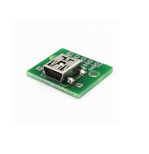 Mini USB al adaptador convertidor para Dip 2.54mm tablero del PWB Hazlo tú mismo fuente de alimentación 10 un