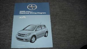 2006 Scion XA Electrical Wiring Diagram Troubleshootin<wbr/>g Manual EWD EVTM OEM