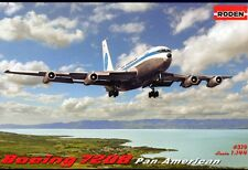 BOEING 720 B PAN AMERICAN (SHORTENED  707) JET CLIPPER PANAMA #319 1/144 RODEN