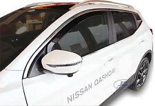 DNI24286 Nissan QASHQAI II  2014 -up wind deflectors visors 4pc set TINTED HEKO