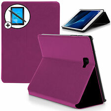 Purple Smart Case Cover Samsung Galaxy Tab A 10.1 SM-P580 S Pen Scrn Prot Stylus