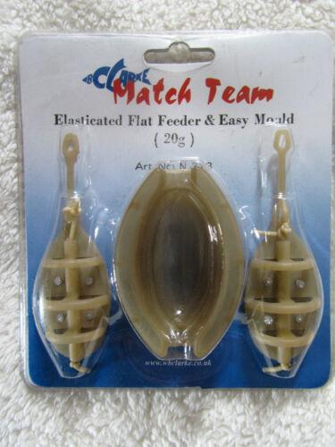 W B CLARKE ELASTICATED FLAT FEEDER /& EASY MOULD 2 SIZES