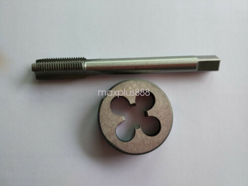 1pc HSS Machine 3//8-16 UNC Plug Tap and 1pc 3//8-16 UNC Die Threading Tool