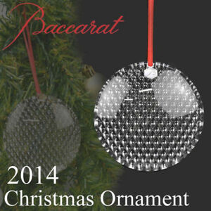 150-Baccarat-Crystal-Diamant-Bauble-3-034-Round-Ornament-New-in-Box-2807394
