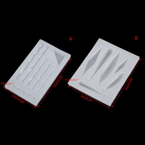 DIY Earring Necklace Pendant Silicone Mold Epoxy Resin Molds Jewelry Tool0U
